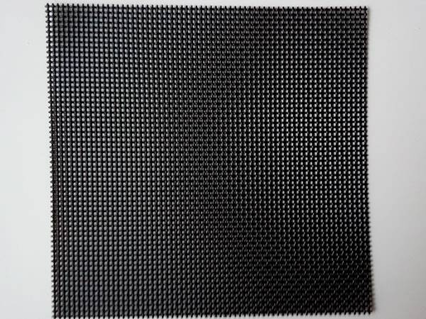 A piece of square shape black security screen.